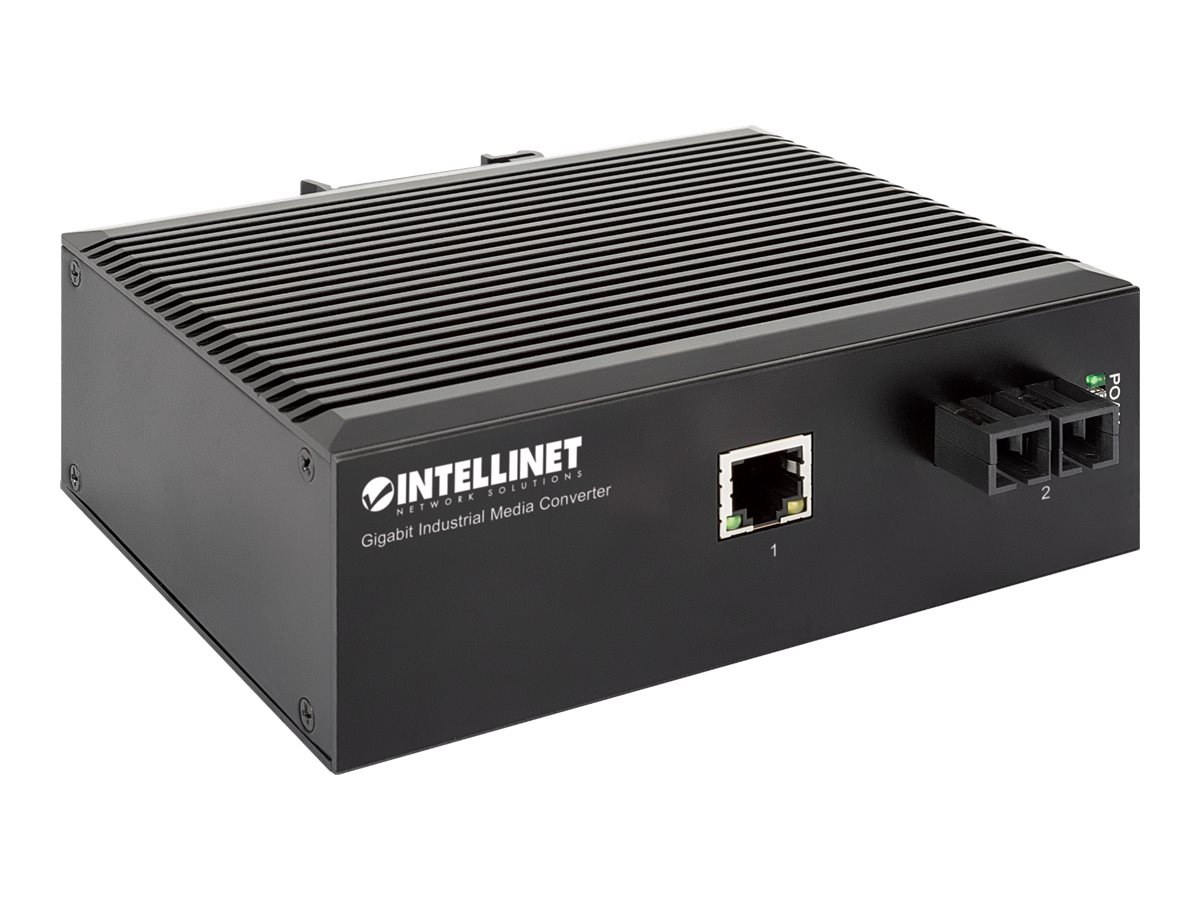 IC Intracom Intellinet - Medienkonverter - GigE - 10Base-T, 1000Base-SX, 100Base-TX, 1000Base-T