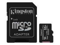 Canvas Select Plus - Flash-Speicherkarte (microSDXC-an-SD-Adapter inbegriffen) - 64 GB