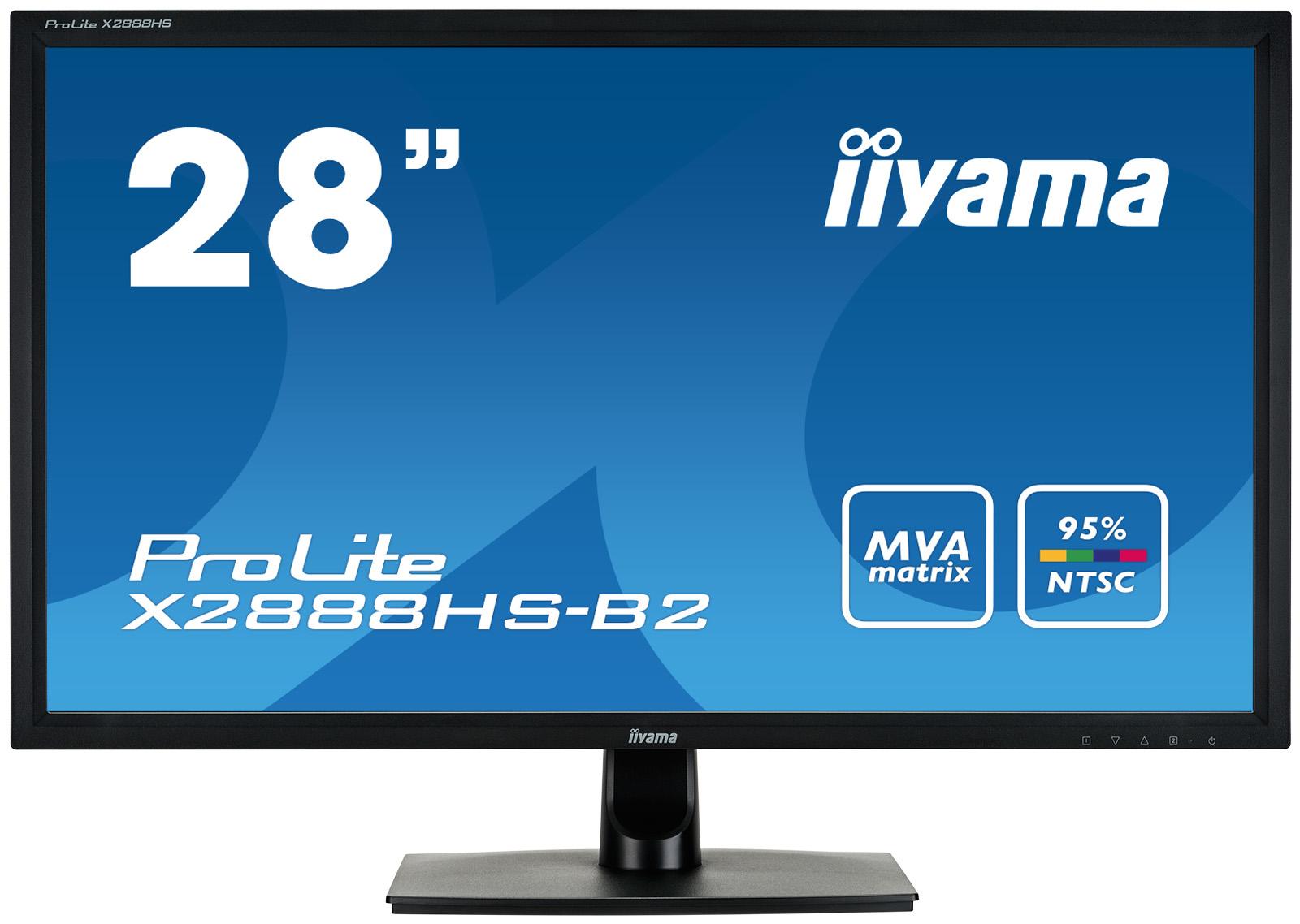 Iiyama ProLite X2888HS-B2 - LED-Monitor - 71 cm (28) (27.9 sichtbar)