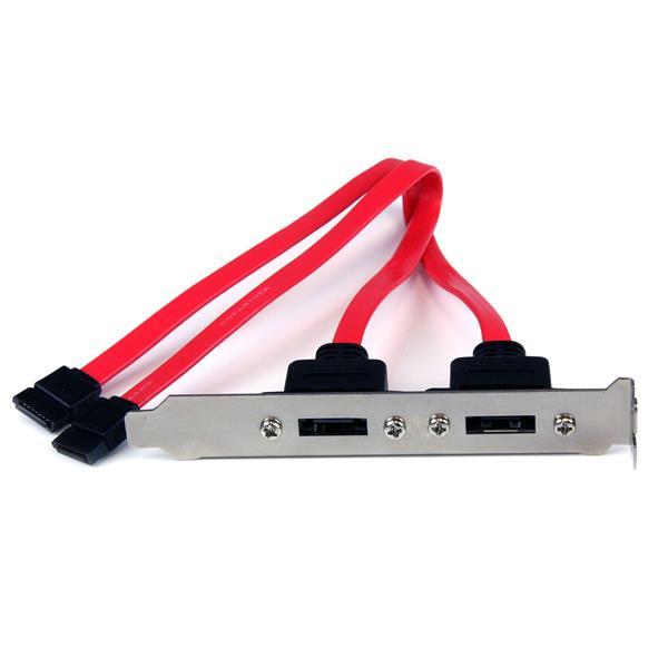 StarTech.com 2 Port SATA auf eSATA Slotblech - Serial-ATA/eSATA Adapter