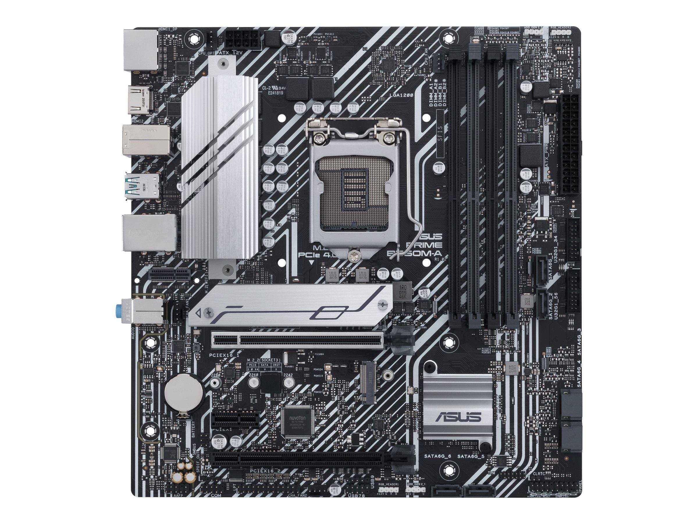 Vorschau: ASUS PRIME B560M-A - Motherboard - micro ATX - LGA1200-Sockel - B560 - USB-C Gen2, USB 3.2 Gen 1, USB 3.2 Gen 2 - Gigabit LAN - Onboard-Grafik (CPU erforderlich)