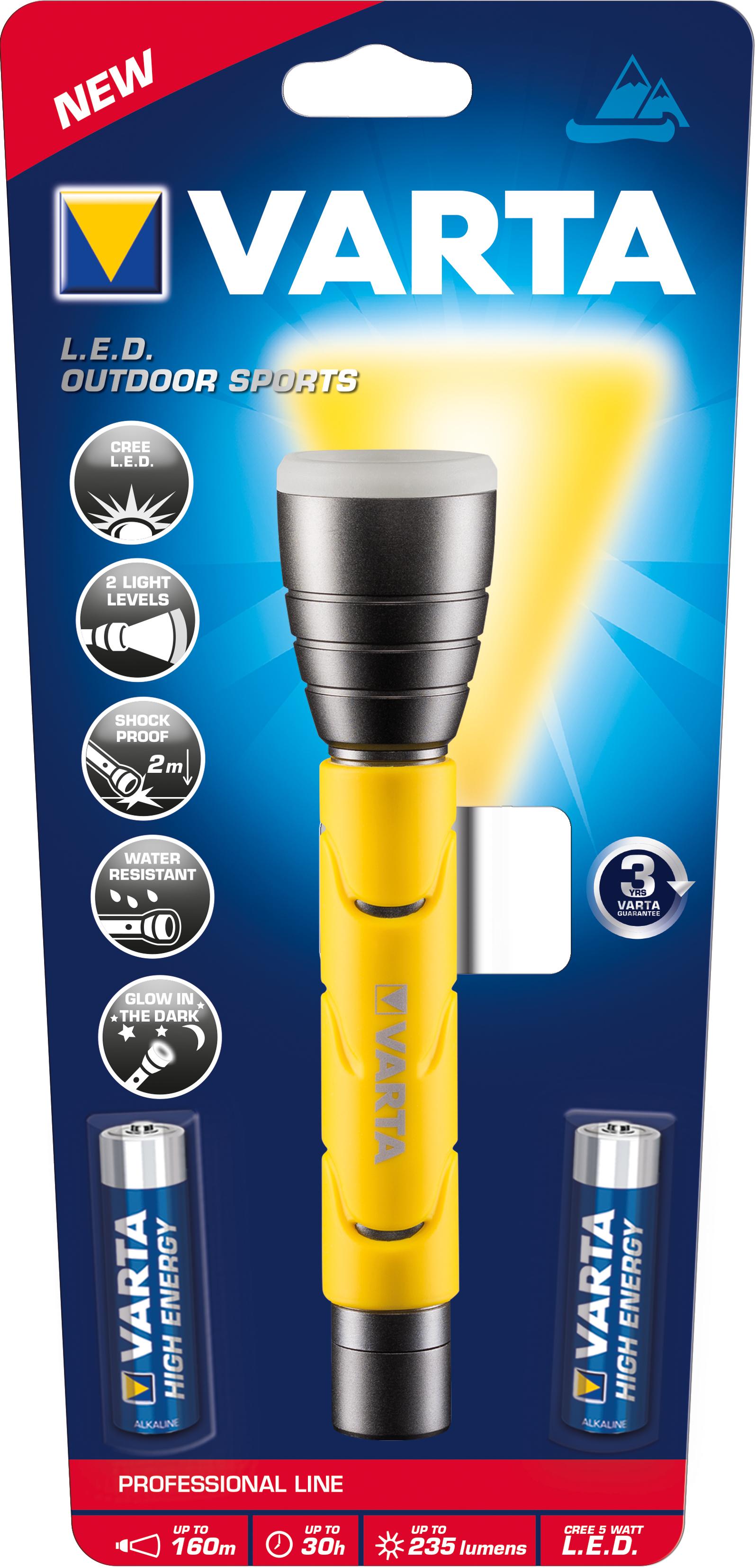 Varta 18628101421 - Hand-Blinklicht - Schwarz - Gelb - LED - 1 Lampen - 235 lm - 160 m
