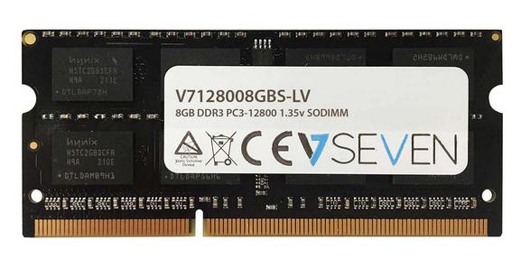 V7 8GB DDR3 PC3-12800 - 1600mhz SO DIMM Notebook Arbeitsspeicher Modul - V7128008GBS-LV Speichermodul