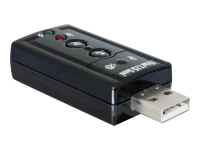 USB Sound Adapter 7.1 2x3.5mm USB2.0 Schwarz