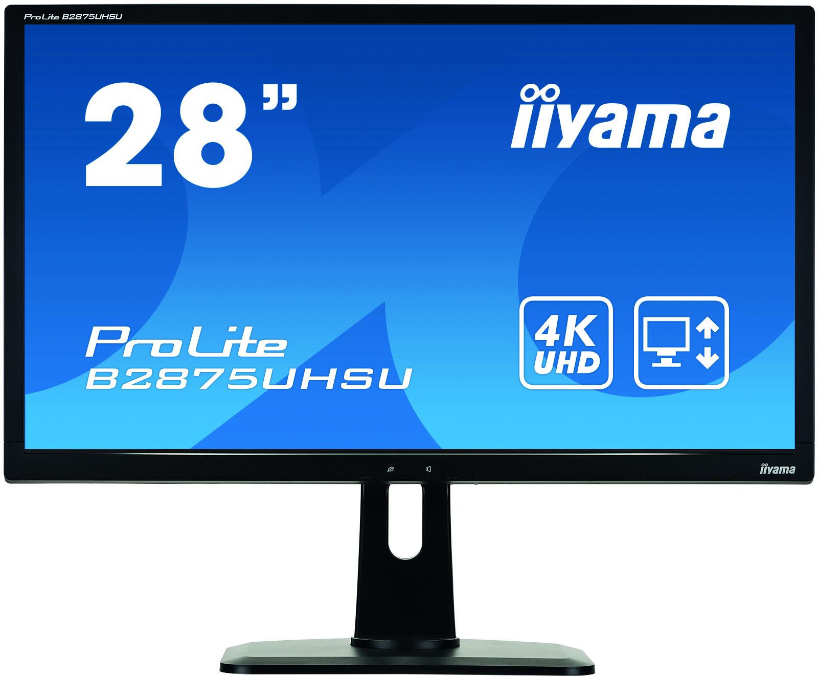 Iiyama ProLite B2875UHSU-B1 28Zoll 4K Ultra HD TN Matt Schwarz Computerbildschirm