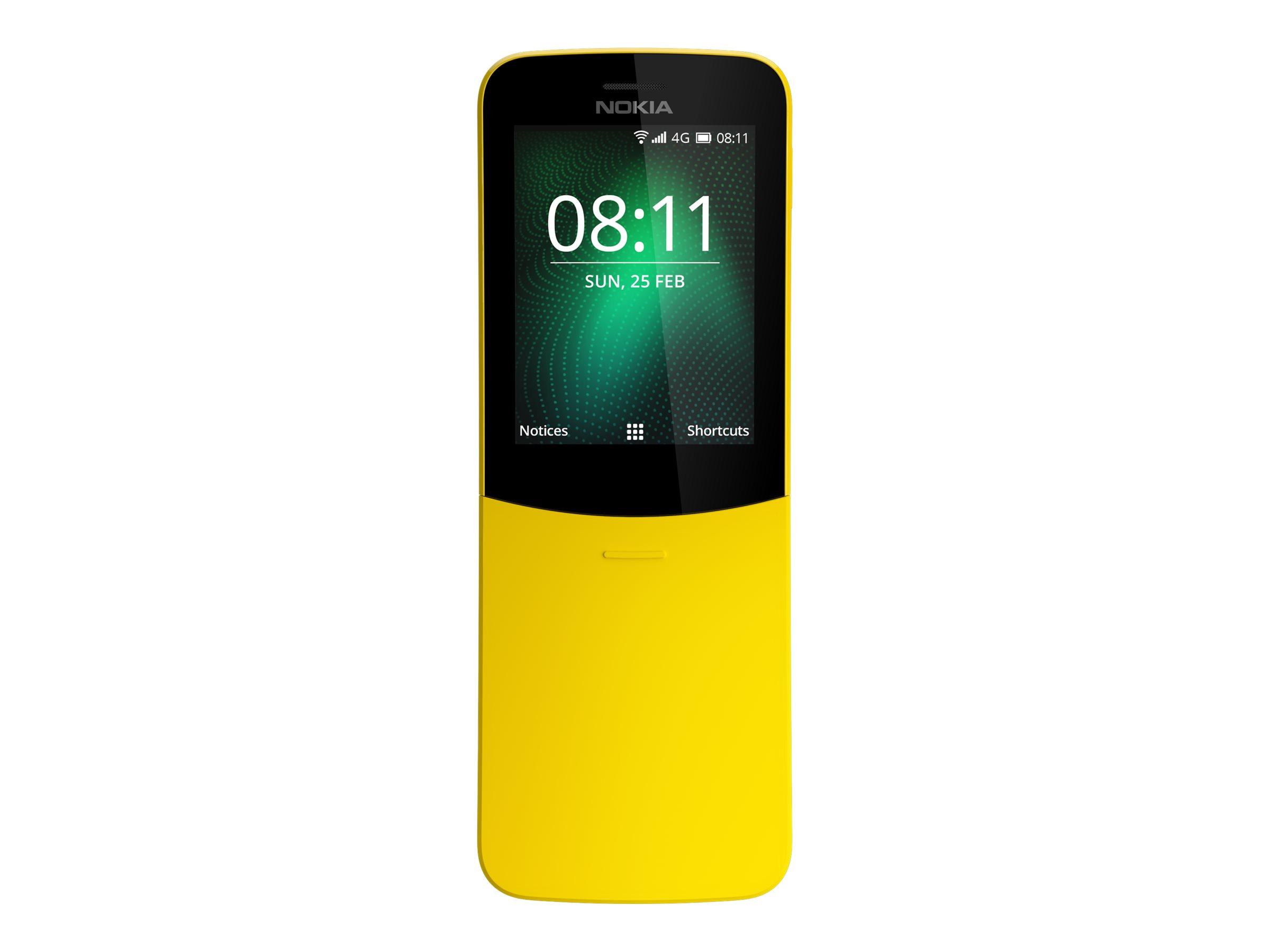 Nokia 8110 4G 2.45Zoll Dual SIM 4G 0.5GB 4GB 1500mAh Gelb