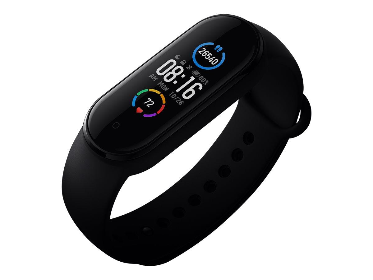 """Xiaomi Mi Smart Band 5 - Aktivitätsmesser mit Band - TPU - schwarz - Handgelenkgröße: 155-219 mm - Anzeige 2.8 cm (1.1"""")"""