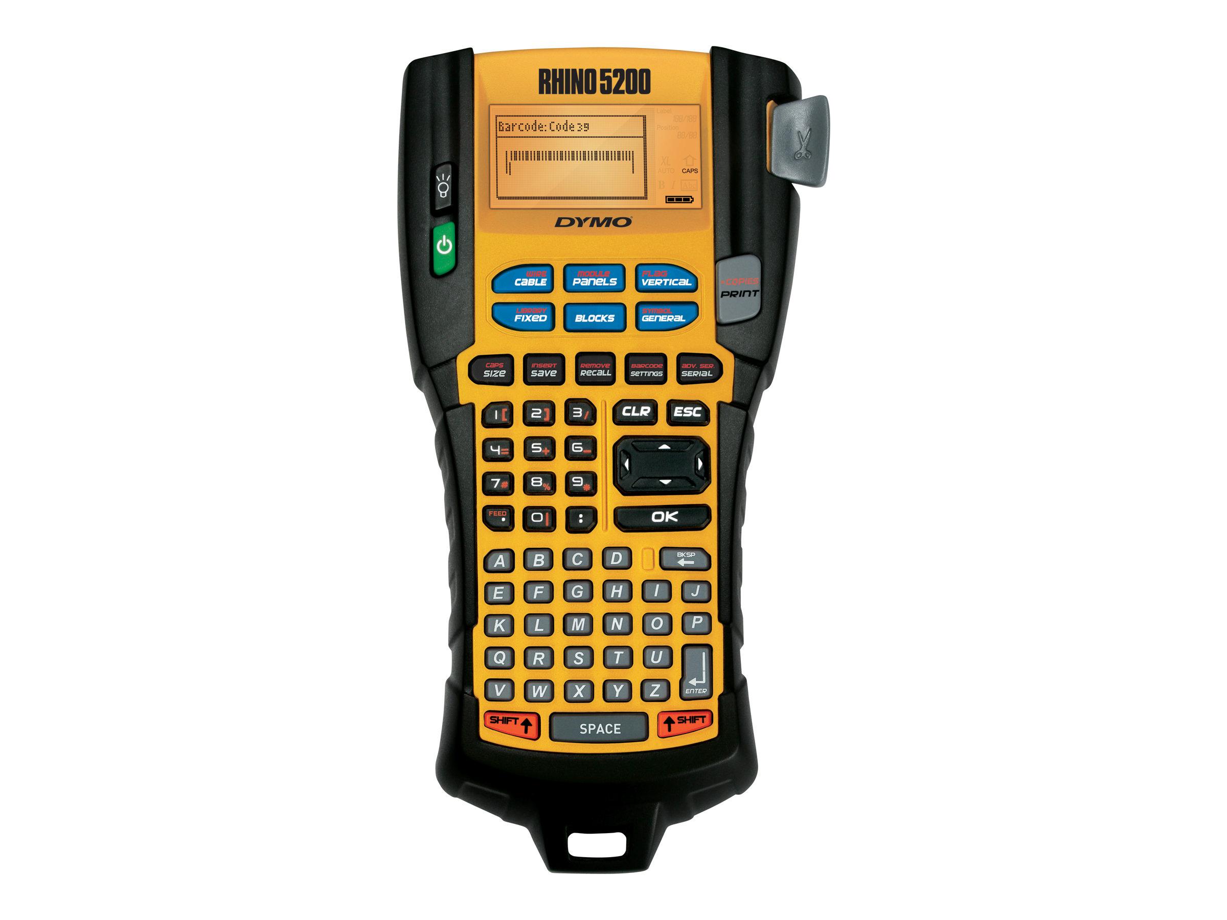 Dymo Rhino 5200 - Hard Case Kit - Beschriftungsgerät - s/w - Rolle (1,9 cm)