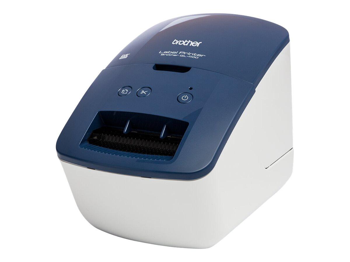 Brother QL-600B - Etikettendrucker - Thermopapier - Rolle (6,2 cm)