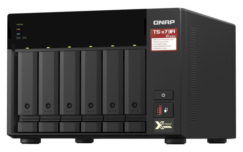 QNAP TS-673A - NAS-Server - 6 Schächte - SATA 6Gb/s