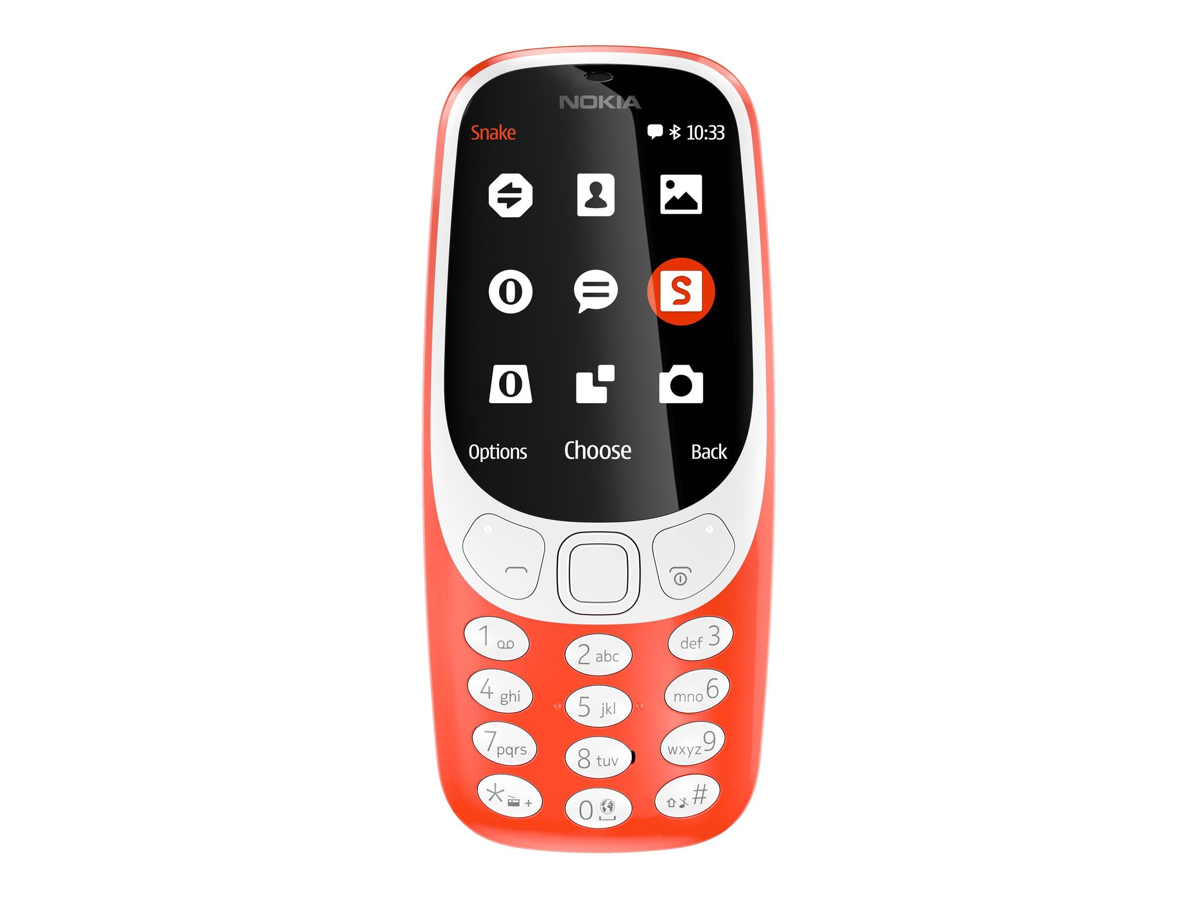Nokia 3310 Dual SIM 2.4Zoll Rot Funktionstelefon EU
