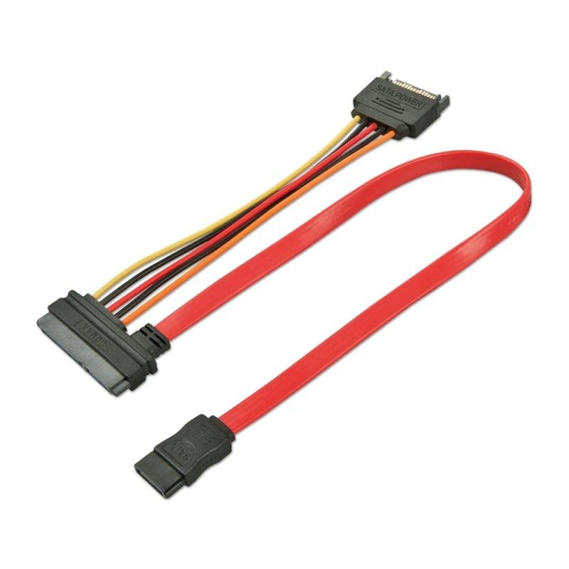 Lindy SATA-Kabel - Serial ATA 150/300 - 7-poliges SATA, 15 PIN SATA Power