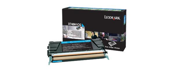 Lexmark X748H1CG Lasertoner 10000Seiten Cyan Lasertoner / Patrone