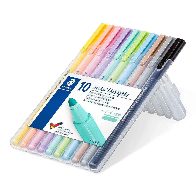 STAEDTLER 362 C - 10 Stück(e) - Schwarz - Braun - Hellblau - Hellgrau - Limette - Minze - Pfirsich - Pink - Violett - Gelb - Rundspitze - Polypropylen (PP) - 1 mm - 4 mm