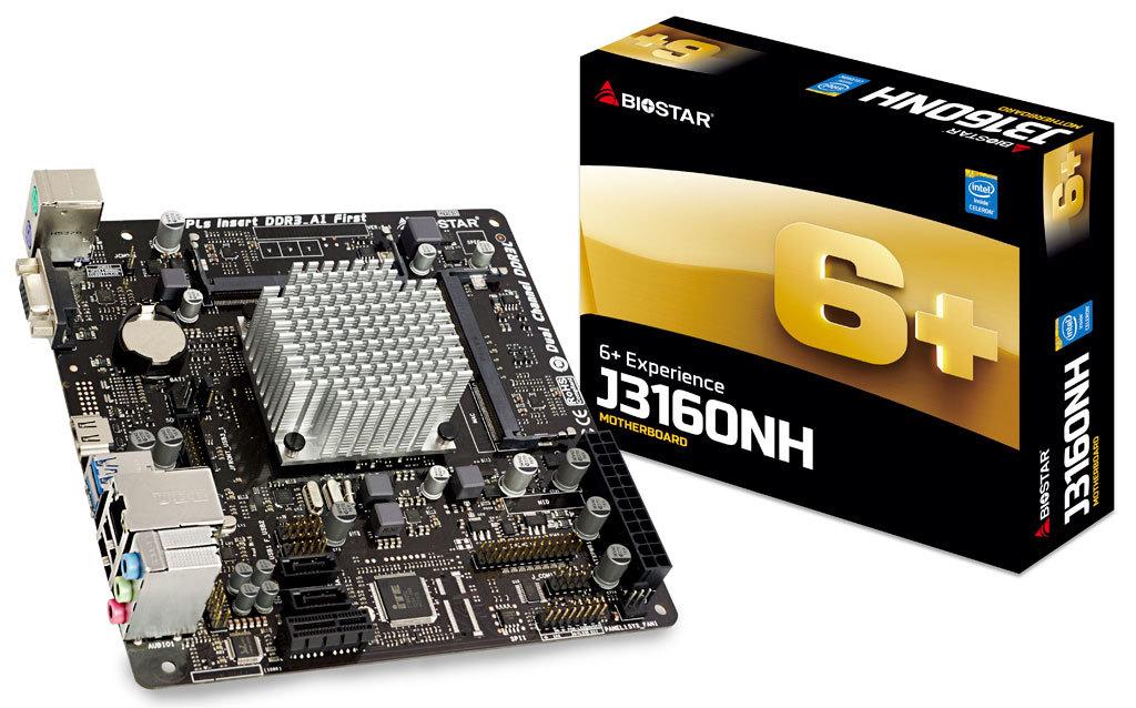Biostar J3160NH - Intel - Intel? Celeron? - 1066,1600 MHz - Intel? Core?2 Quad - 2,24 GHz - Dual
