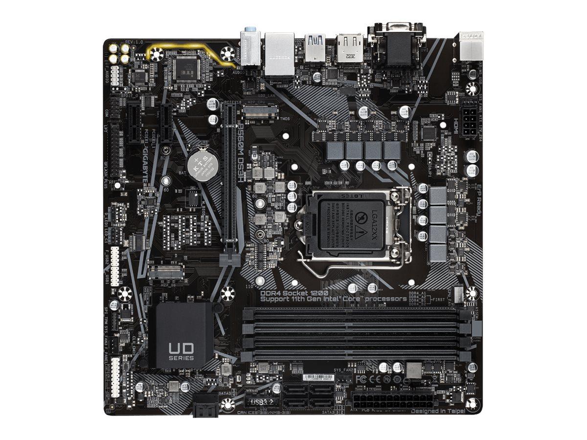Vorschau: Gigabyte B560M DS3H - 1.0 - Motherboard - micro ATX - LGA1200-Sockel - B560 - USB-C Gen1, USB 3.2 Gen 1 - Gigabit LAN - Onboard-Grafik (CPU erforderlich)