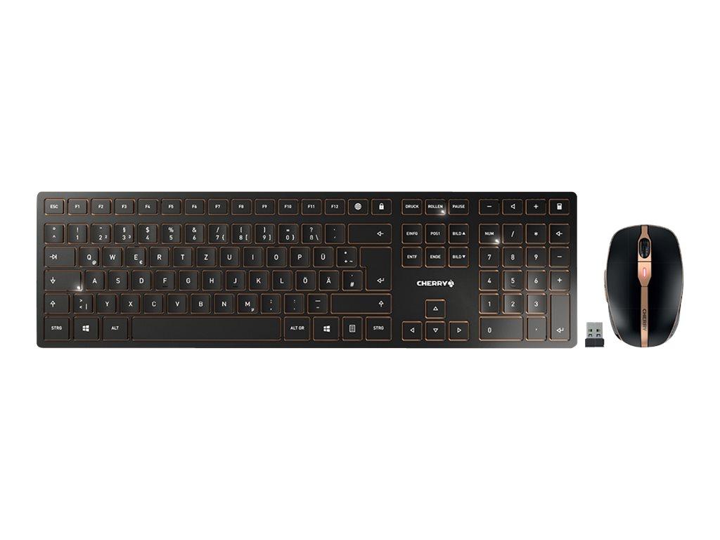 Cherry DW 9000 SLIM - Tastatur-und-Maus-Set - kabellos