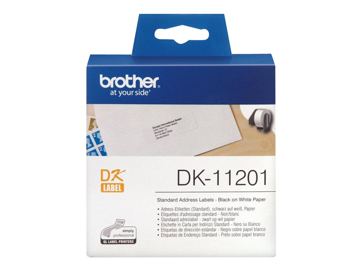 Brother DK-11201 - Schwarz auf Weiß - 29 x 90 mm 400 Etikett(en) (1 Rolle(n)