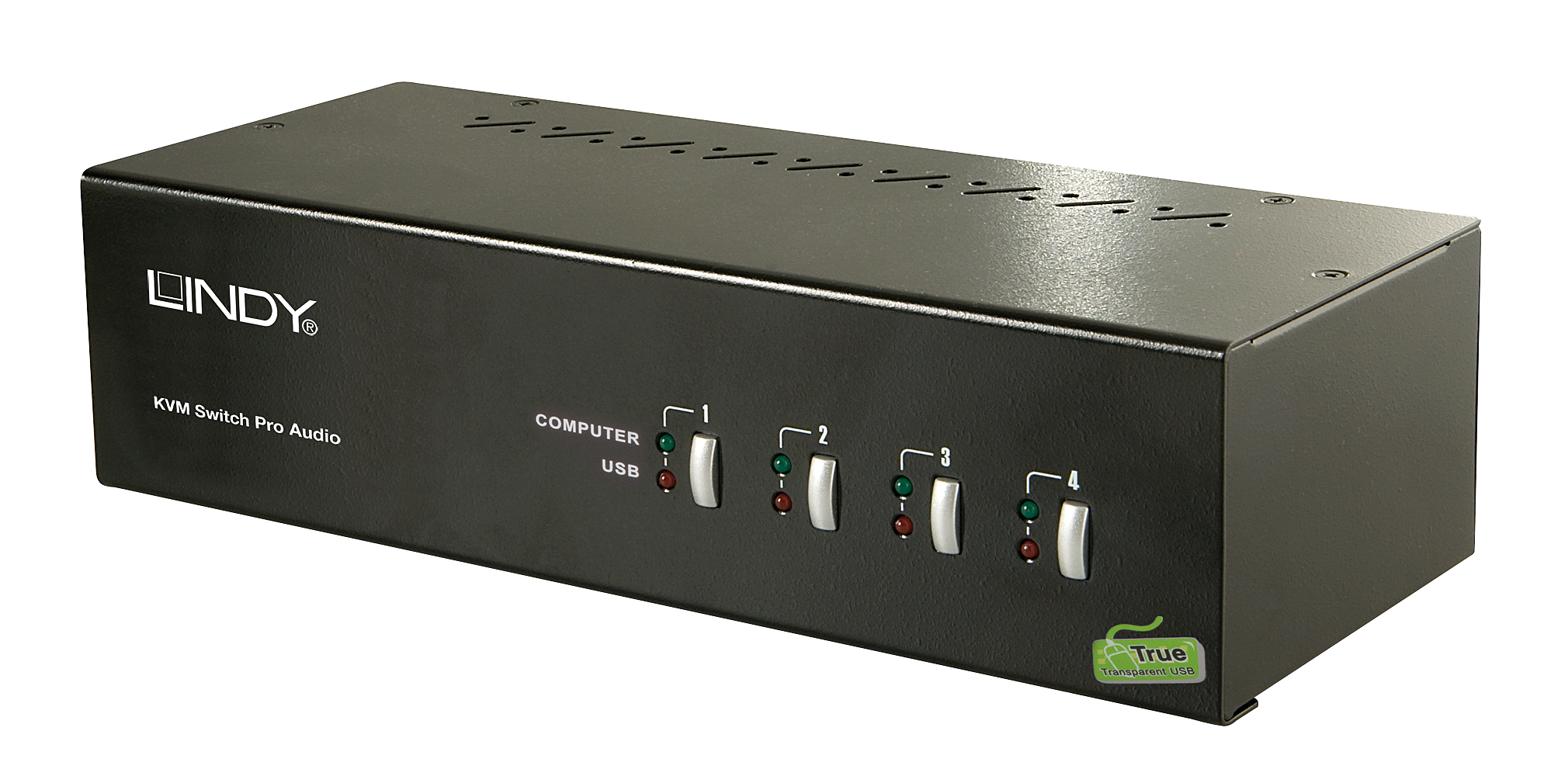 Lindy KVM Switch Pro Audio - KVM-/Audio-/USB-Switch - USB