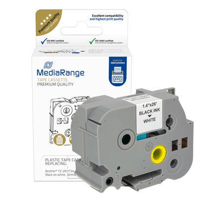 Vorschau: MEDIARANGE MRBTZ261 - Schwarz - Tintenstrahl - Dauerhaft - Brother P-Touch 3600 - 900 - 9200DX - 9400 - 9500PC - 9600 - 9700PC - 9800PCN - D800W - P900W - P950NW - 3,6 cm - 1 Stück(e)