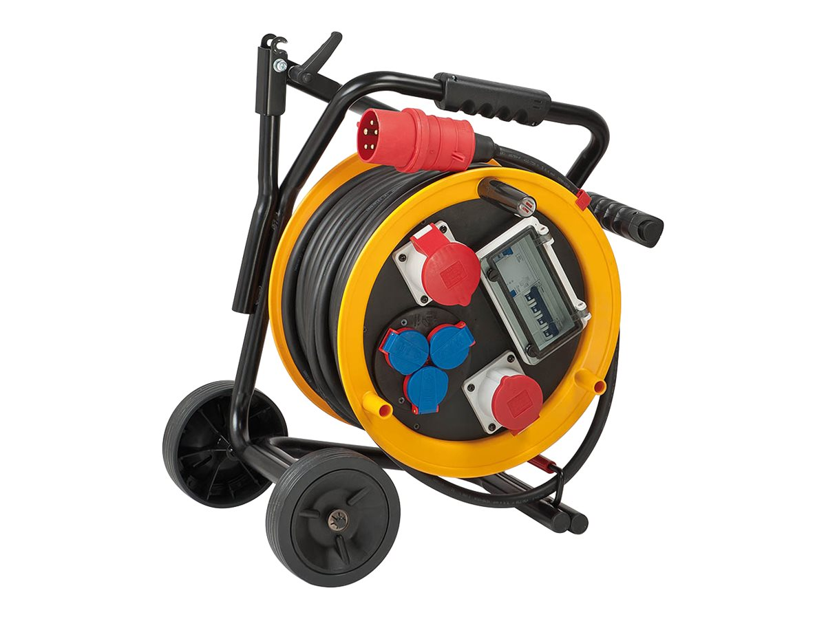 Brennenstuhl Brobusta CEE 2 FI IP44 cable reel on a chassis for site & professional 30m H07RN-F 5G4,0