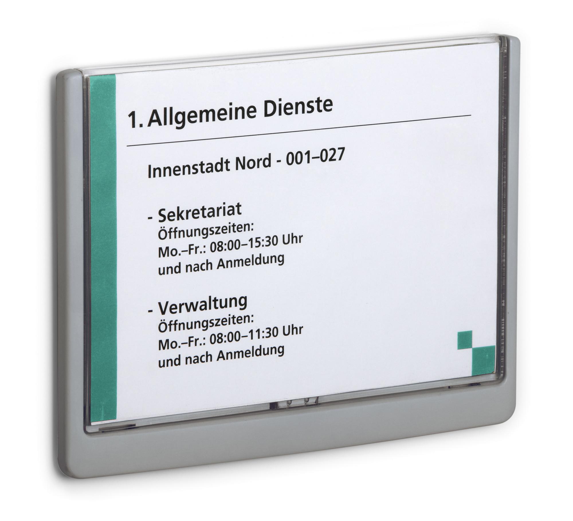 Durable 486637 - Schilderhalter - A5 - Kunststoff - Graphit - 21 cm - 14,8 cm