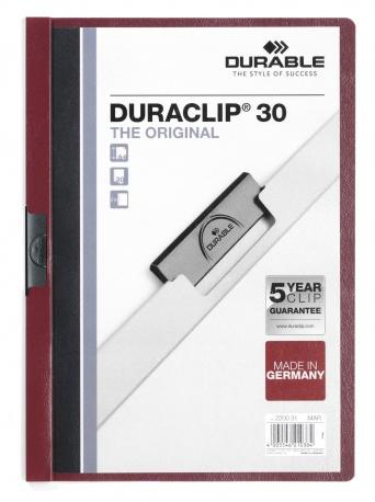 Durable Duraclip 30 - Burgund - Transparent - PVC - 30 Blätter - A4 - 1 Stück(e)