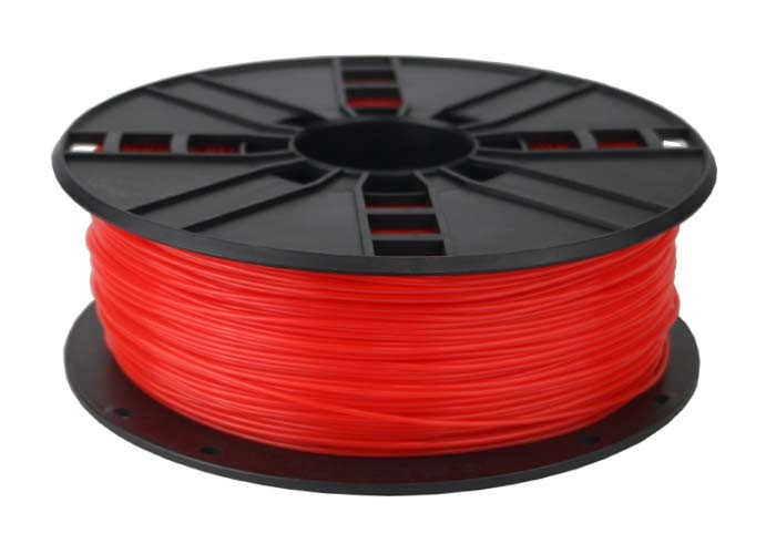 Gembird 3DP-PLA1.75-01-FR - Polyacticsäure (PLA) - Fluorescent red - 5 kJ/m² - 45 MPa - 200 °C - 1 kg