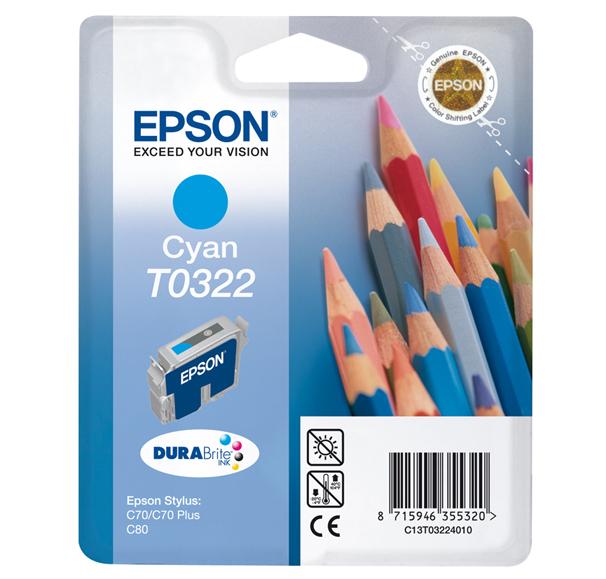 Epson T0322 - Druckerpatrone - 1 x pigmentiertes Zyan