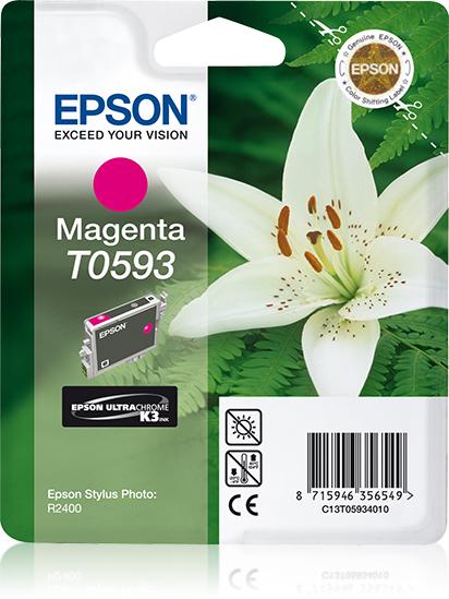 Epson-C13T05934020-Lily-Singlepack-Magenta-T0593-Ultra-Chrome-K3-Original thumbnail 3