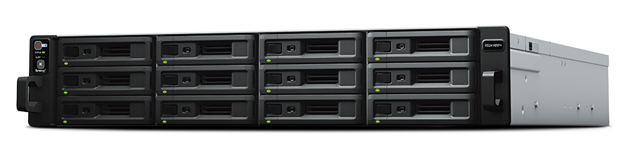 Synology RackStation RS2418+ - NAS - Rack (2U) - Intel Atom® - C3538 - Schwarz - Grau