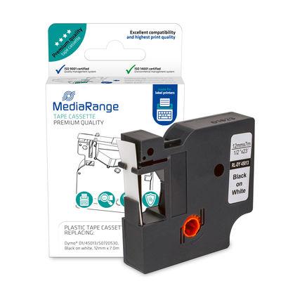 MEDIARANGE MRDY45013 - Schwarz auf weiss - Dauerhaft - D1 - Schwarz - DYMO - LabelManager 100 - 160 - 210D - 220P - 260P - 280 - 350 - 350D - 360D - 420P - 450D - 500TS - PnP - Wireless PnP