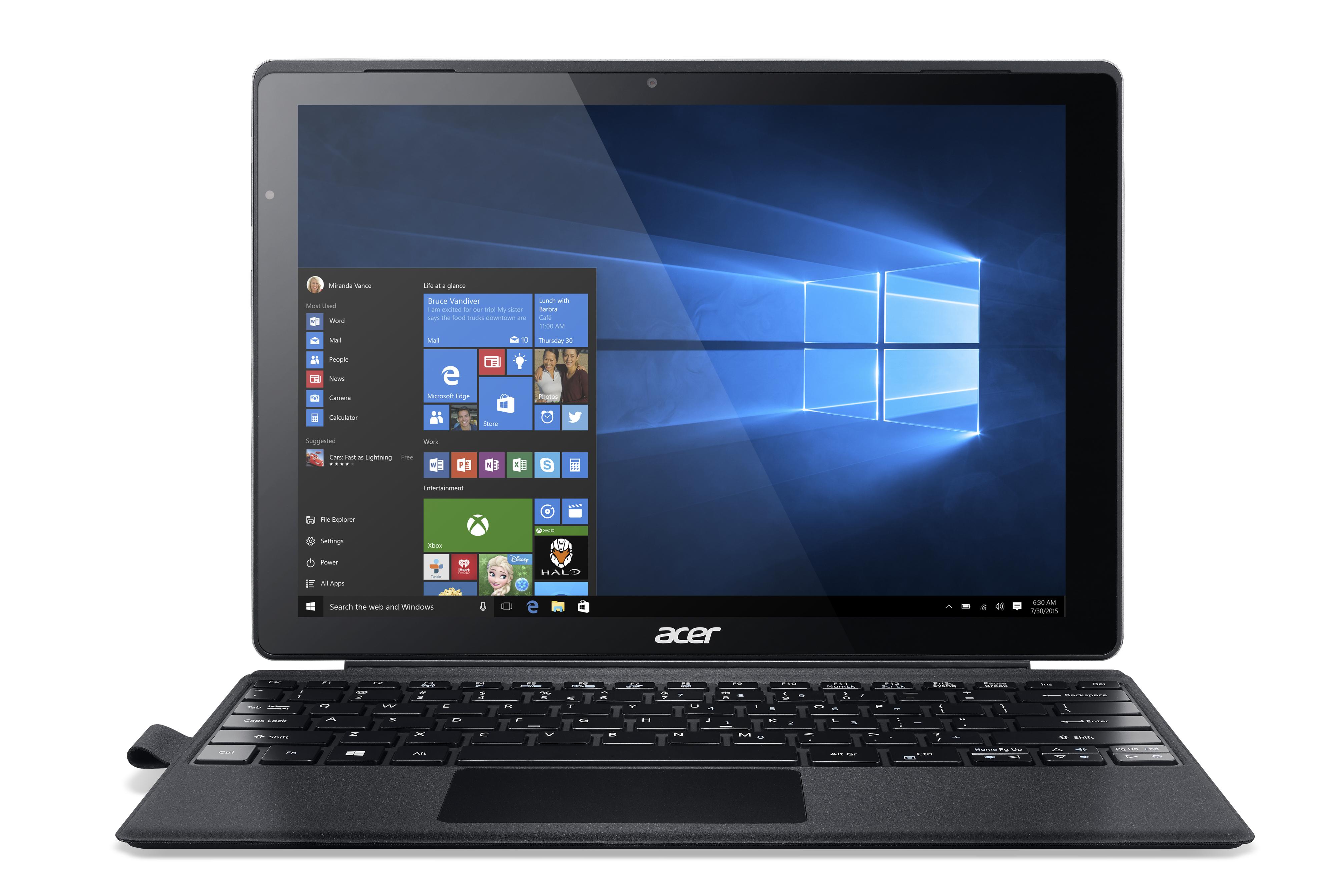 Acer Aspire 12-56RP 256 GB Silber, Schwarz - 12 Tablet - Core i5 Mobile 2,3 GHz 30,5cm-Display