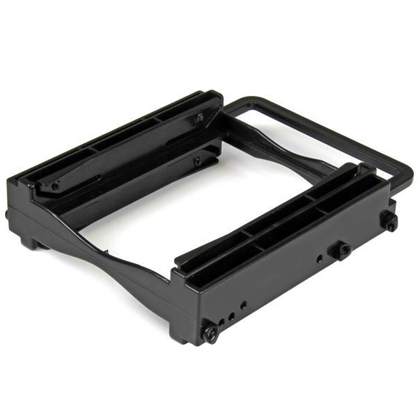 StarTech.com Dual 2,5 SSD/HDD Montagehalterung für 3,5 Laufwerksschacht - Werkzeuglose Installation - Speichereinschubadapter