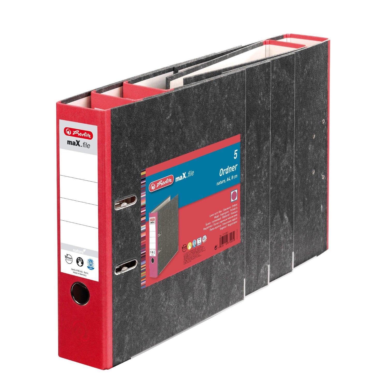 Vorschau: Herlitz 11012812 - A4 - Schwarz - Rot - 8 cm - 5 Stück(e)