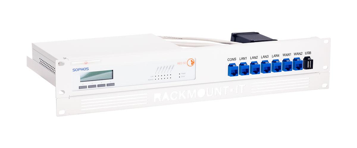 Rackmount.IT RM-SR-T9 - Montageschelle - Blau - Weiß - 2U - 0,5 m - Sophos RED 50 - 482 mm