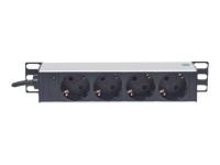 """10"""" 1U Rackmount 4-Way Power Strip - Verlängerungsschnur ( Rack-montierbar ) - 125 V"""