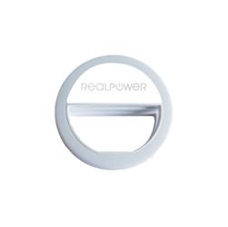RealPower Smartphone Ringlicht fuer noch bessere Selfies - LED - Grau - Smartphones - 70 g - 8,5 cm - 28 mm