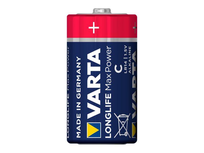 Varta Longlife Max Power - Batterie 2 x C - Alkalisch