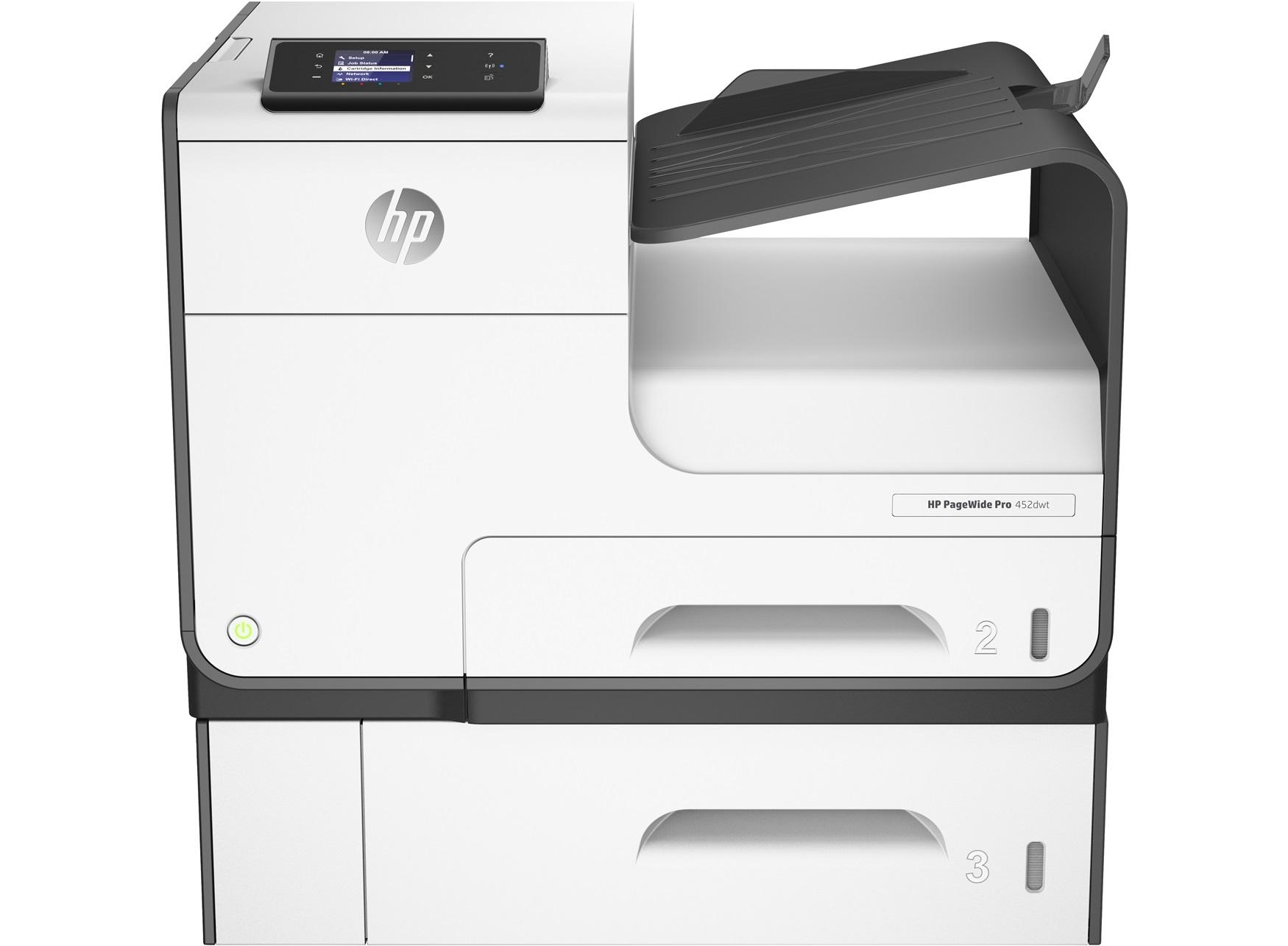 HP PageWide Pro 452dwt Printer & Tray Farbe 2400 x 1200DPI A4 WLAN Tintenstrahldrucker