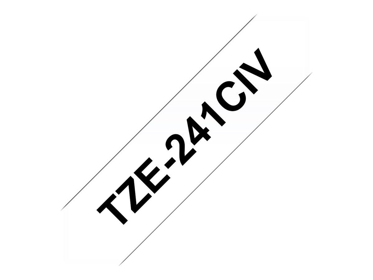 Brother TZe241CIV - Schwarz auf Weiß