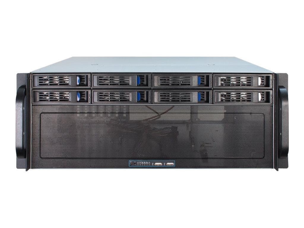 Inter-Tech IPC 4U-4408 - Rack-Montage - 4U - erweitertes ATX / SSI EEB - ohne Netzteil (ATX)