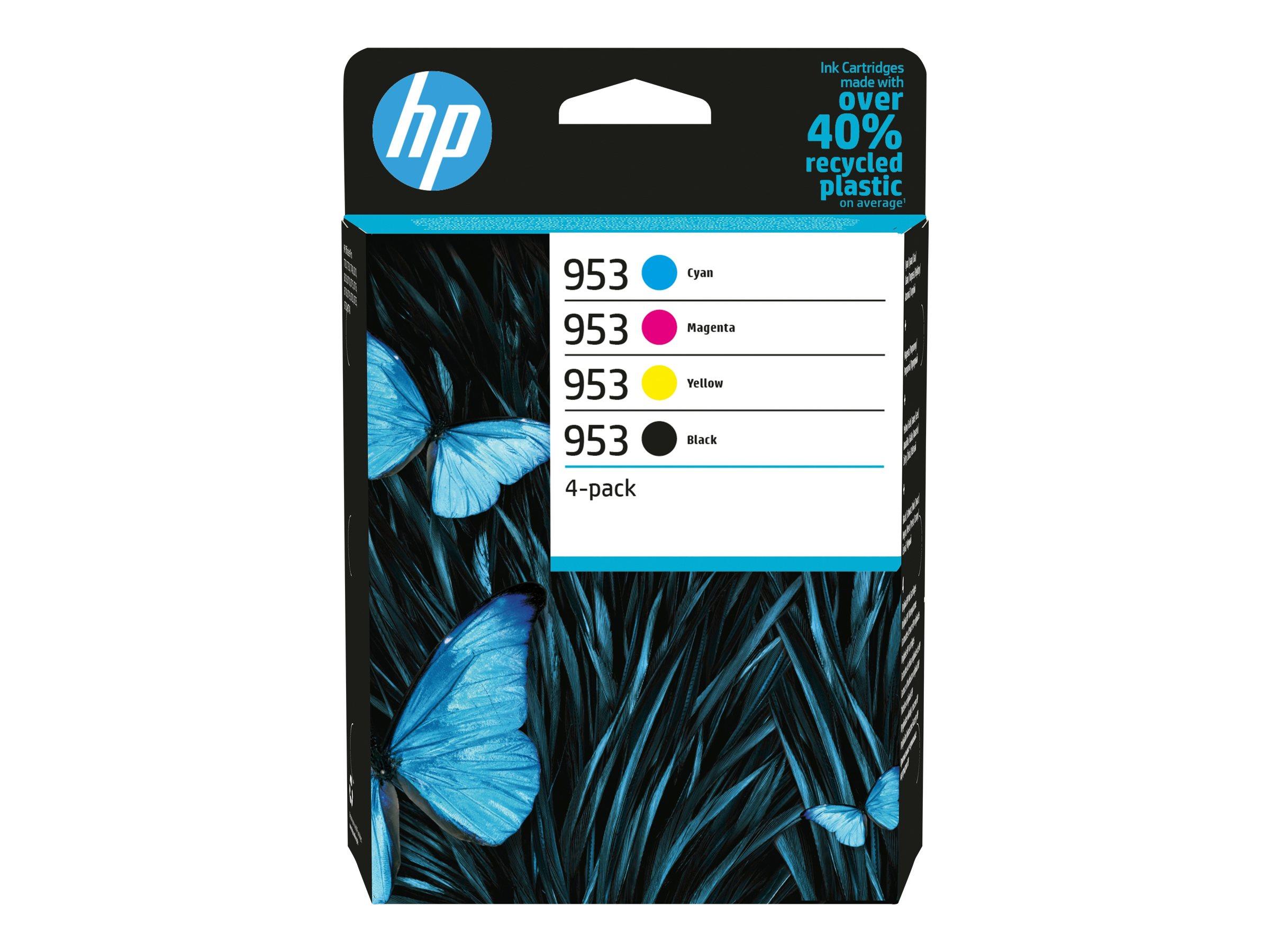HP 953 - 4er-Pack - Schwarz, Gelb, Cyan, Magenta