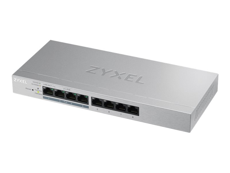 ZyXEL GS1200-8HP v2 - Switch - managed - 4 x 10/100/1000 + 4 x 10/100/1000 (PoE+)