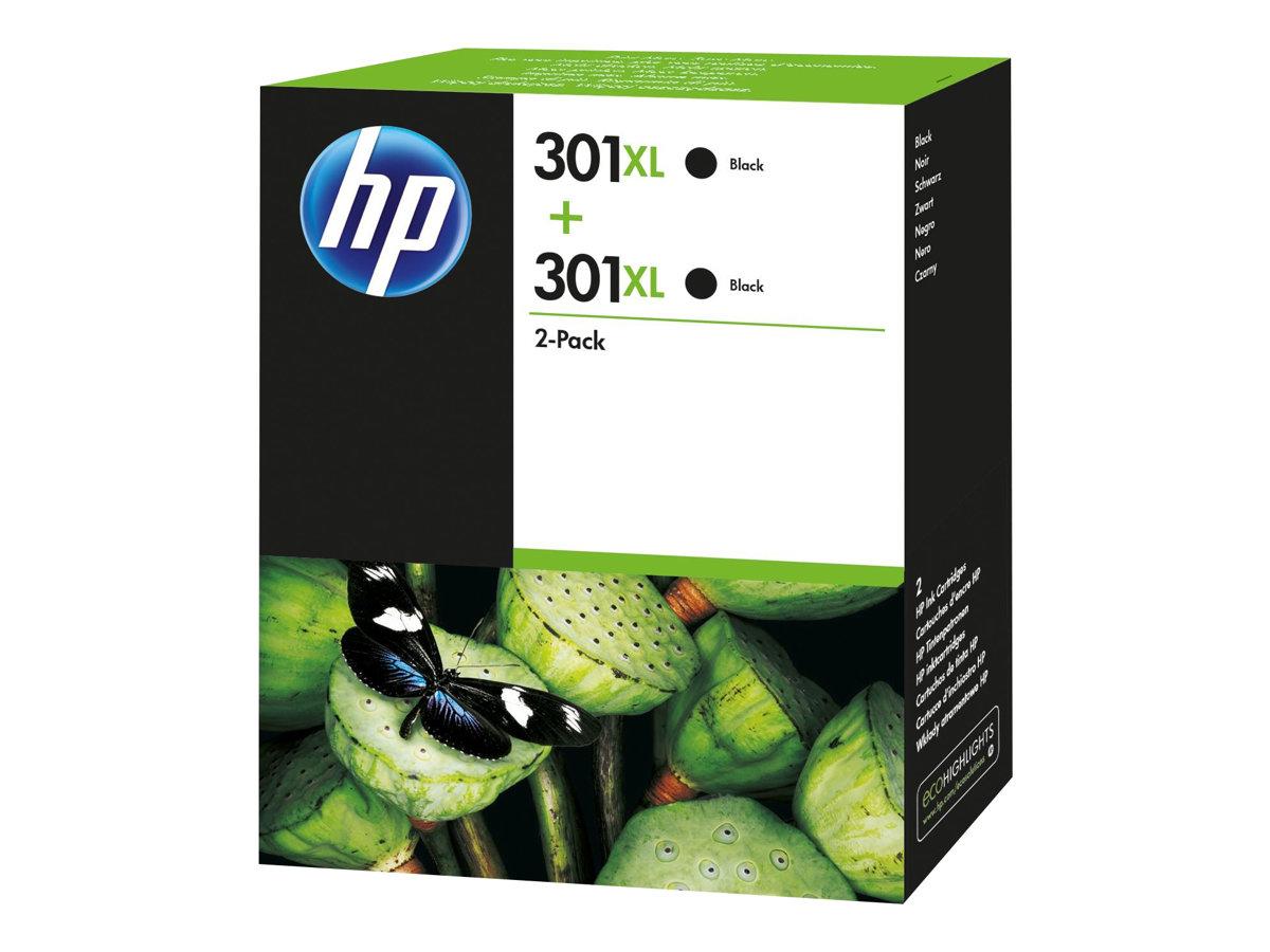 HP Tinte black Nr. 301XL (D8J45AE) ca. 480 Seiten, Doppelpack
