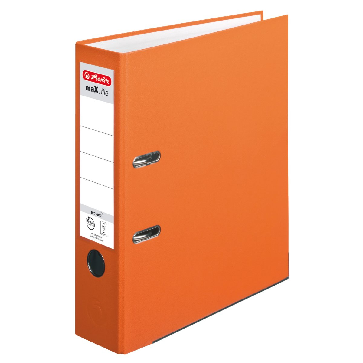 Herlitz 11416286 - 5 Blätter - Orange - Polypropylen (PP) - A4 - 80 mm