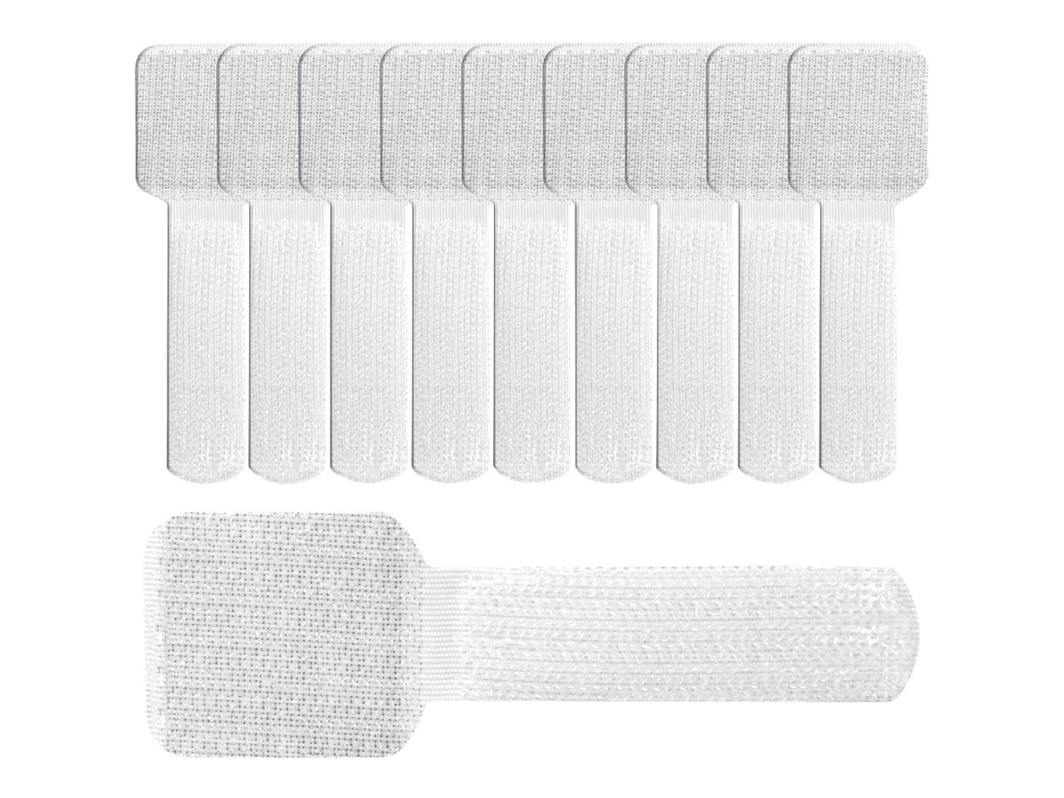 Label-the-cable LTC Pro Wall - Kabelhalter - Oberfläche montierbar, geeignet für Wandmontage - 9 cm - weiß (Packung mit 50)