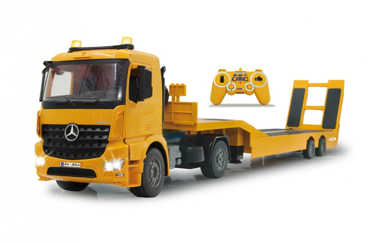 JAMARA Tieflader Mercedes Arocs - Lastwagen auf der Straße - Elektromotor - 1:20 - Betriebsbereit (RTR) - Gelb - 6 Jahr(e)