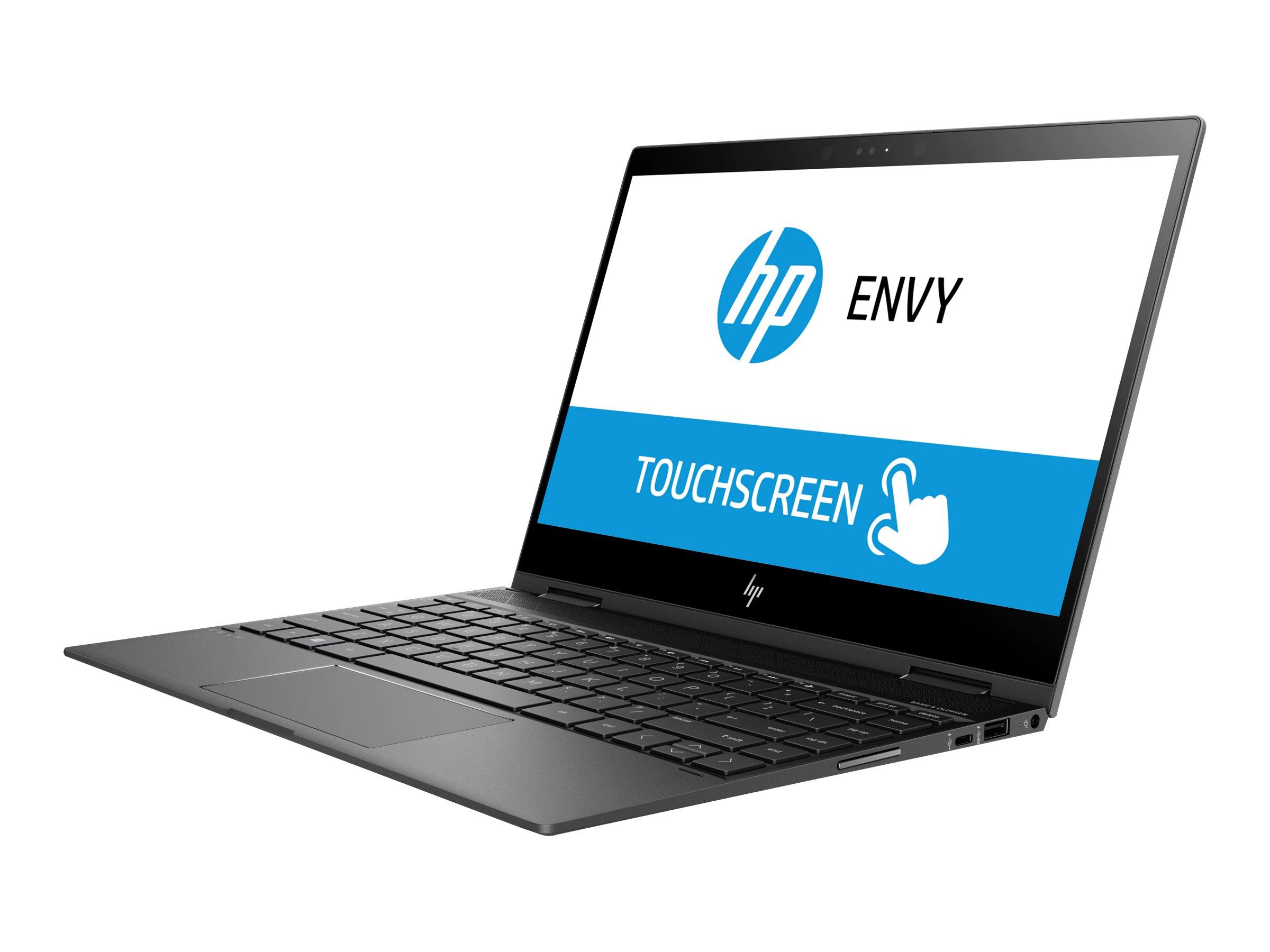 HP ENVY x360 13-ag0003ng 2GHz 2300U AMD Ryzen 3 13.3Zoll 1920 x 1080Pixel Touchscreen Schwarz - Silber Hybrid (2-in-1)