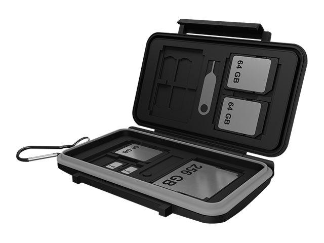 ICY BOX ICY BOX IB-AC620-CR - Memory-Etui - Kapazität: 4 CompactFlash-Karten, 8 SD-Karten, 16 microSD Karten
